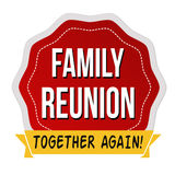 Family reunion label or sticker Royalty Free Stock Photo