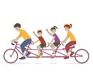 Family Riding Bicycle Stock Photography