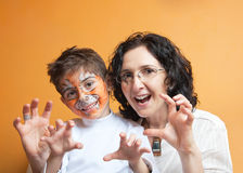 Family roaring Stock Photos