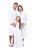 Family in robes Royalty Free Stock Photo