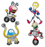 Family of Robots Stock Image