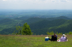 Family at Rock Castle Gorge Overlook - Blue Ridge Parkway, Virginia, USA Royalty Free Stock Photo