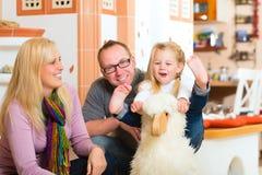 Family rocking rocker horse Stock Images