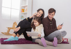 Family in the room Royalty Free Stock Image