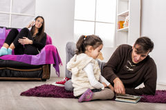 Family in the room Royalty Free Stock Photography