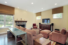 Family room in luxury home Royalty Free Stock Photography