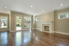 Family room in new construction home Royalty Free Stock Image
