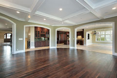 Family room in new construction home Stock Photography