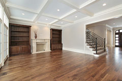 Family room in new construction home Royalty Free Stock Photos