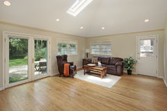 Family room with skylight Royalty Free Stock Photography