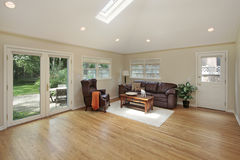 Family room with skylight Stock Photography