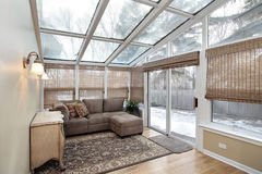 Family room with skylights Royalty Free Stock Photo
