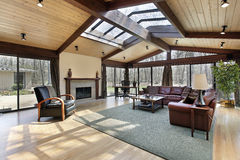 Family room with skylights Stock Images