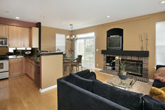 Family room in suburban home Royalty Free Stock Images