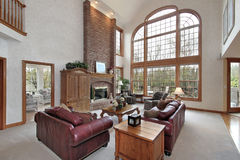 Family room in suburban home Stock Image