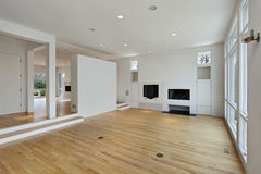 Family room with white cabinetry Royalty Free Stock Image