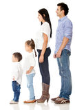 Family in a row Royalty Free Stock Photo