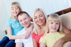 Family in a row Stock Image