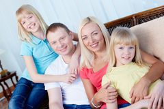 Family in a row Royalty Free Stock Image