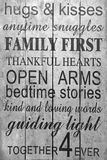 Family rules black and white picture stock photography