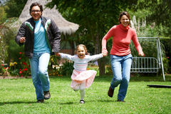 Family running Royalty Free Stock Photos