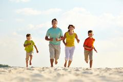 Family running Royalty Free Stock Images