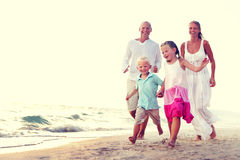 Family Running Playful Vacation Travel Holiday Concept Royalty Free Stock Photo