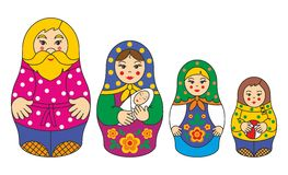 The family of Russian matryoshka dolls Royalty Free Stock Photo