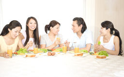 A family's breakfirst royalty free stock images