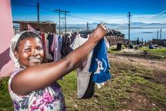 Family's laundry Stock Photography