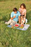 Family`s picnic Stock Photography