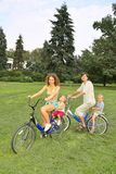 Family`s riding Stock Photography