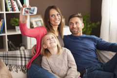 Family's selfie Royalty Free Stock Image