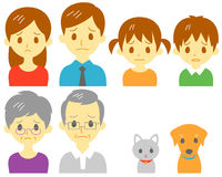 FAMILY, sad expression stock illustration