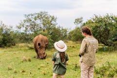 Family on safari Royalty Free Stock Photos