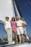 Family on sailboat (portrait) Royalty Free Stock Photos