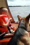 Family sailing. Stock Photo