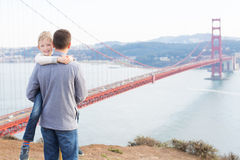 Family in san francisco Stock Photography