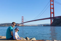 Family in san francisco Royalty Free Stock Photos