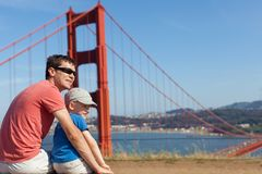 Family in san francisco Royalty Free Stock Images