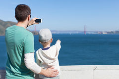 Family in san francisco Stock Images