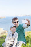 Family in san francisco Royalty Free Stock Photography