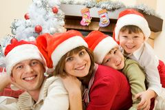 Family of Santas Royalty Free Stock Images