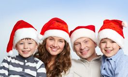 Family of Santas Stock Images