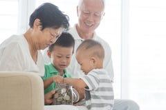 Family saving money concept Stock Image