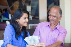 Family savings stock image