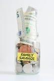 Family savings jar Stock Photos