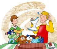 family scene иллюстрация вектора