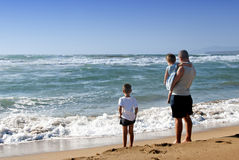 Family at the sea Royalty Free Stock Image