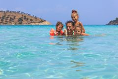 Family in the sea Royalty Free Stock Photography